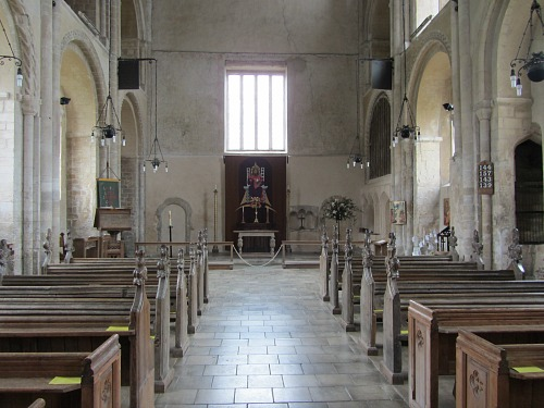Interior of Binham Priory church of St Mary and the Holy Cross