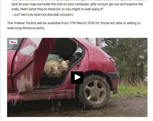ITV Article on Google Street View of National Trails