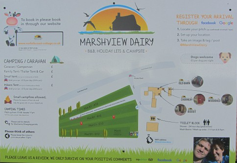 Marshview Dairy relaxed campsite or B&B's and self-catering accommodation