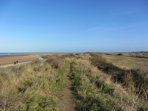 The walk towards Thornham on the Norfolk Coast Path