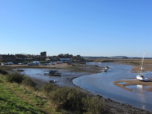 Looking back towards Burnham Overy Staithe
