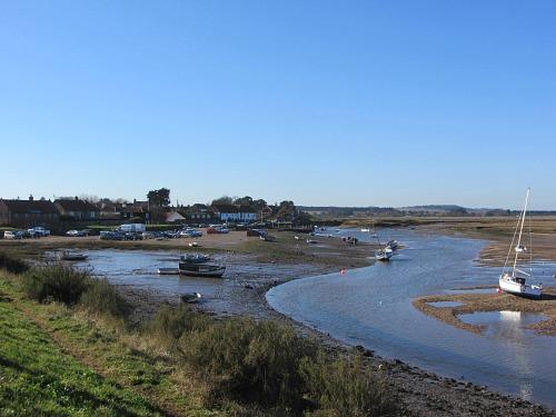 Looking back at Burnham Overy Staithe as you head towards Holkham beach