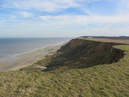 Cliffs on the Norfolk Coast Path towards Trimingham