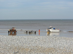 Fishermen on Cromer beach