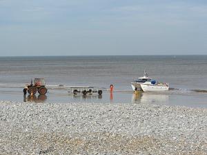 Fishermen on Cromer beach