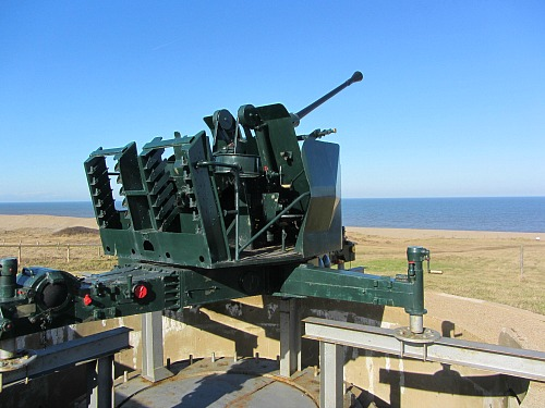 Gun placements overlooking the North Sea at Weybourne