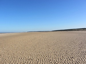 The wide open expanse of sand at Holkham beach