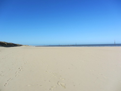 The end of my Norfolk Coast Path walk at Sea Palling beach
