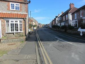 Cliff Road in Sheringham