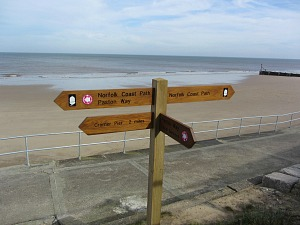 Norfolk Coast Path signposts