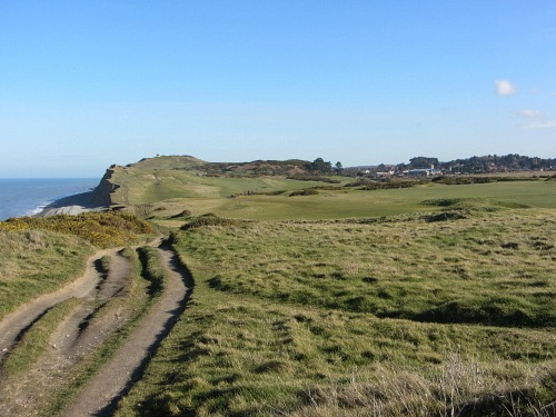 The cliffs at Sheringham Golf  Course