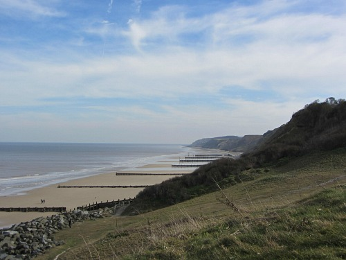 View of the beach from Overstrand
