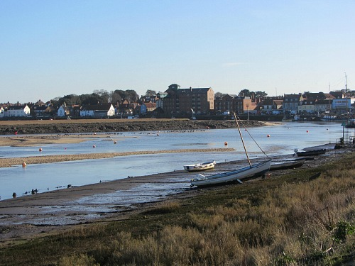 The approach to Wells-next-the-Sea