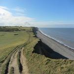 The cliffs along the Norfolk Coast Path