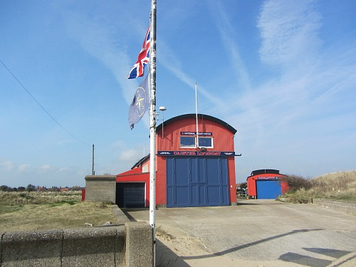Caister Lifeboat Station at the start of day 8 on the Norfolk Coast Path