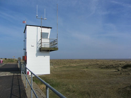 The tower watch on the edge of Gt Yarmouth North Denes Dunes