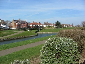 Gt Yarmouth gardens adjacent to the beach