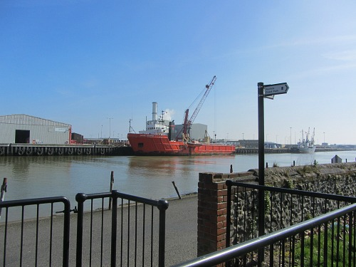 The busy working port at Gt Yarmouth