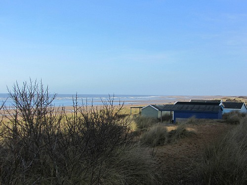 Views over the beach huts at Old Hunstanton