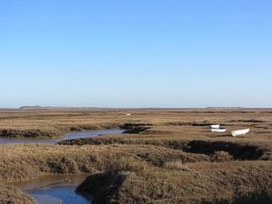 Salt marshes on the Norfolk Coast Path