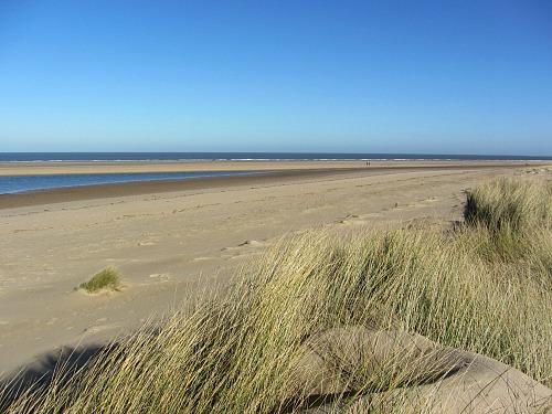 Sand dunes on the Norfolk Coast Path