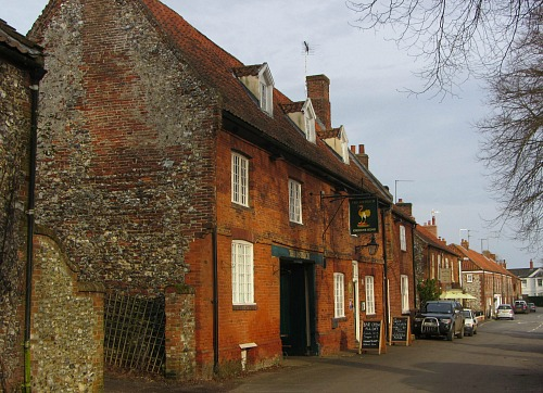 One of the few pubs along the route