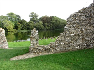 The ruins of Baconsthorpe Castle