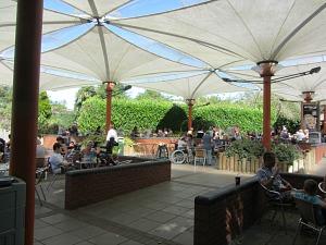 Banham Zoo's Parrot Pavilion eating area
