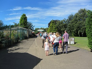 The entrance to Banham Zoo