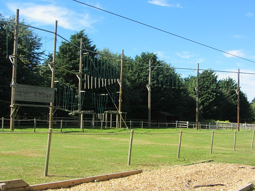 Banham Zoo's high ropes - Sky Trek
