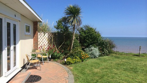 One of the Barton chalets with sea views