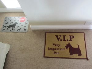 The VIP dog mat