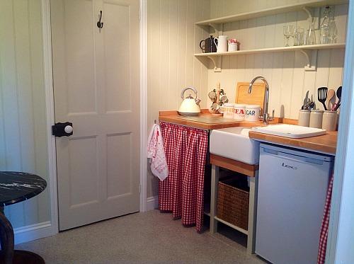 The original nursery sink at Ladybird cottage, near Horsey, Norfolk