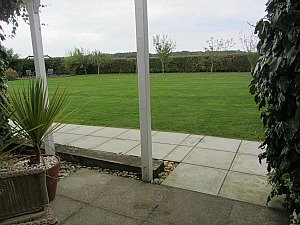 Very dog friendly garden at Big Sky Cottages, Winterton