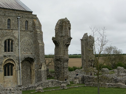 The exterior remains of Binham Priory