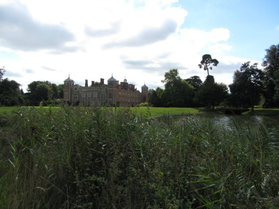 The lake at Blickling Hall