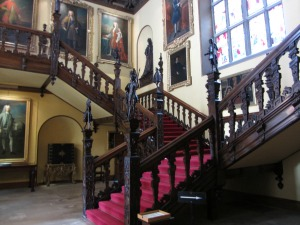 Main staircase at Blickling Hall