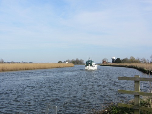 Pleasure boats on the Norfolk Broads