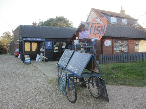 Fresh fish at Brancaster Staithe Norfolk