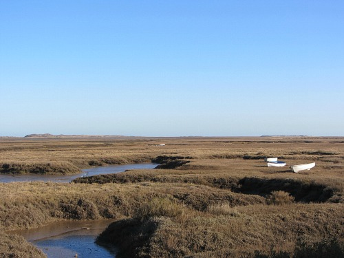 The salt marshes at Brancaster Staithe Norfolk