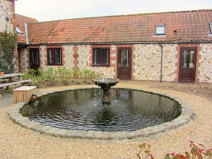 Briarfields courtyard with fountain