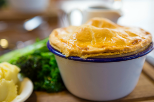 A warming Briarfields pie