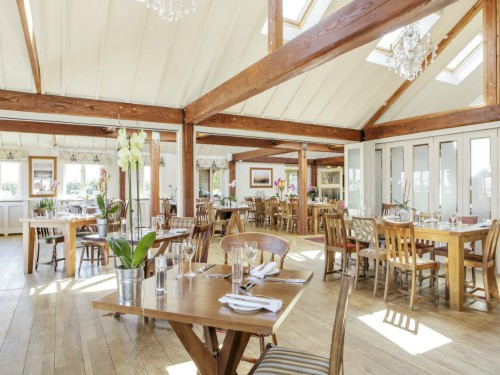 Briarfields light and airy restaurant.
