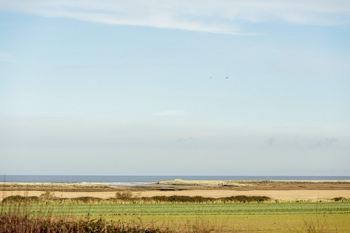 The view over Titchwell marshes from Briarfields Hotel
