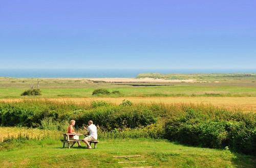 Briarfields marsh and sea view