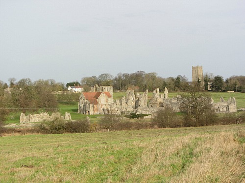 The impressive ruins of Castle Acre Priory