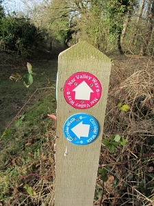 Castle Acre Circular Walk Signs and Nar Valley Way markers