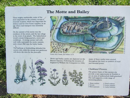 Information boards around the Castle