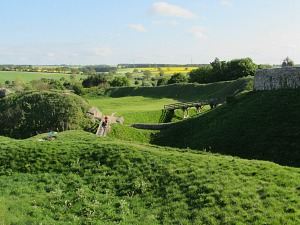 Wonderful view from Castle Acre Castle