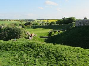 Wonderful view from Castle Acre Castle